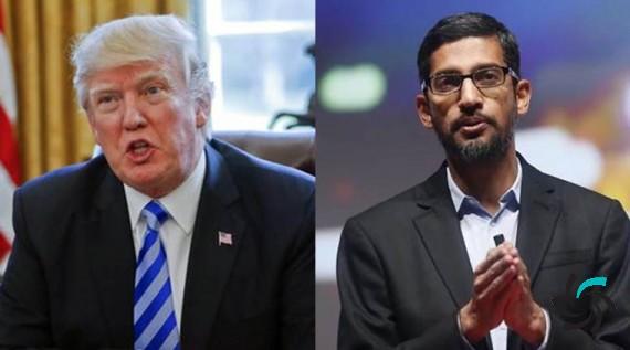 دونالد ترامپ گوگل و مدیرعامل آن را بهسختی مورد سرزنش قرار داد | اخبار | شبکه شرکت آراپل