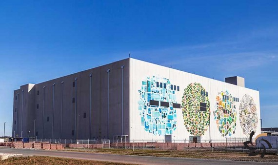 خلق آثار هنری گوگل با دیوارهای دیتاسنترهایش | اخبار شبکه | شبکه کامپیوتری | شرکت شبکه